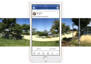 فيسبوك تتيح للمستخدمين أخذ صور 360 من داخل التطبيق