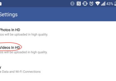 فيسبوك يتيح امكانية رفع فيديوهات HD