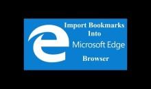كيف تنقل علامات التبويب المحفوظة bookmarks من كروم أو فايرفوكس إلى ايدج