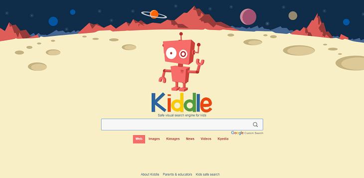 موقع kiddle