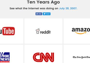 هذا الموقع يظهر لك كيف كانت المواقع التي تفضلها قبل 10 أعوام