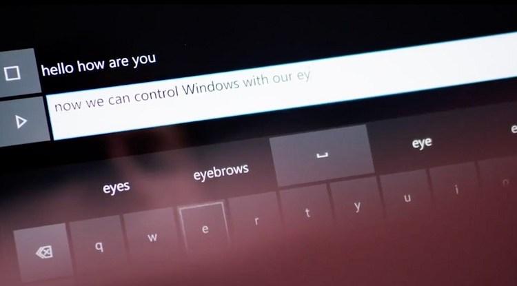 ويندوز 10 سيدمج تقنية التتبع و التحكم عبر العين قريباً