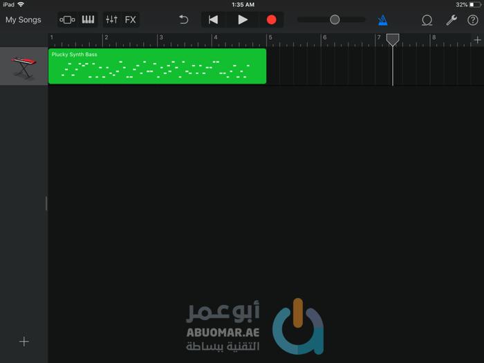 كيفية تسجيل نغمة Bass خاصة باستعمال Alchemy synth على GarageBand