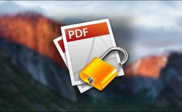 تشفير ملف PDF على ماك