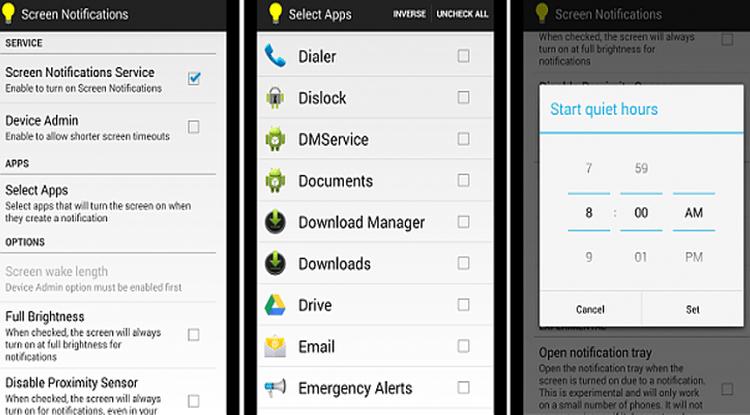 screen notifications app