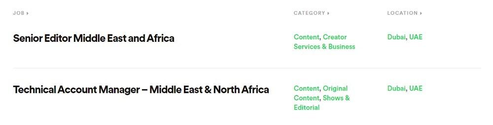 Spotify- وظائف دبي