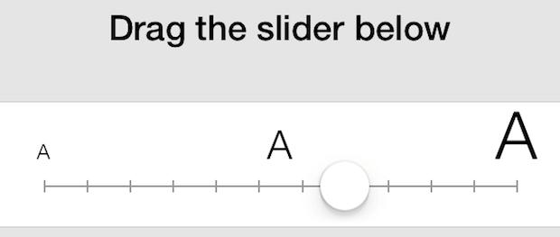 كيفية تغيير حجم الخط على الآيفون والآيباد