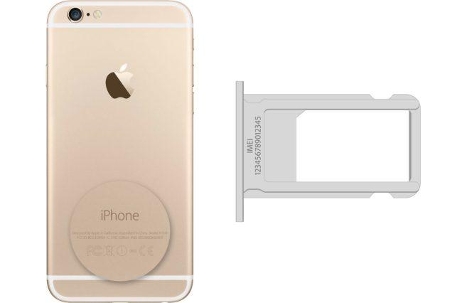 كيف تجد الرقم التسلسلي الـ iphone-imei-sim-tray