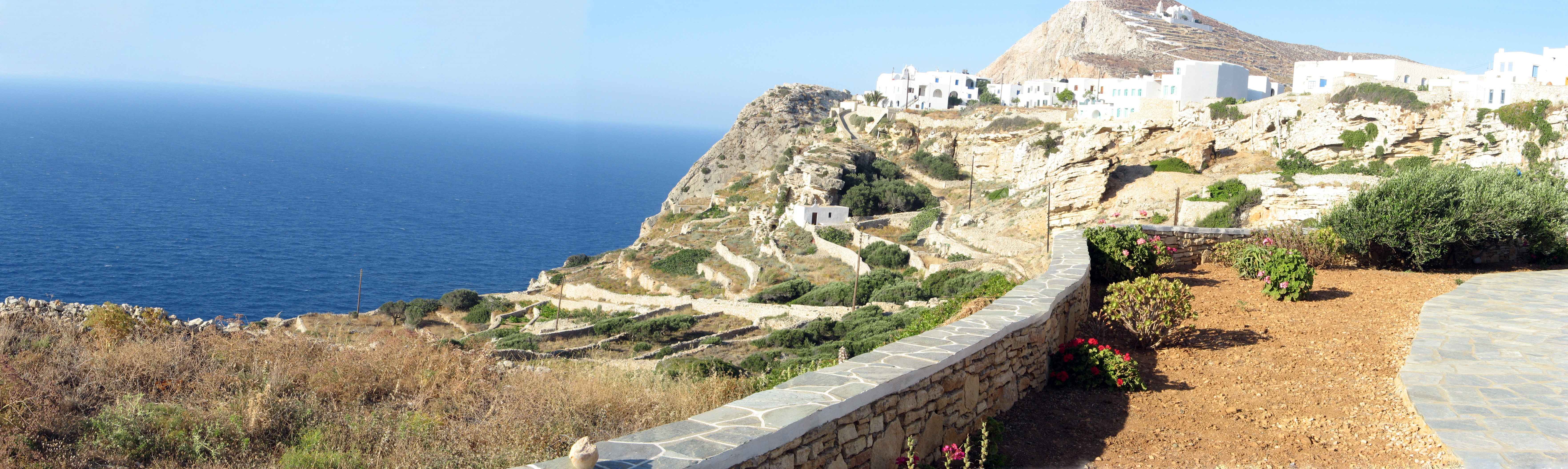 view from my porch - anemousa, folegandros