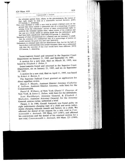 Common vs. Amirault - 424 Mass. 618 - Page619
