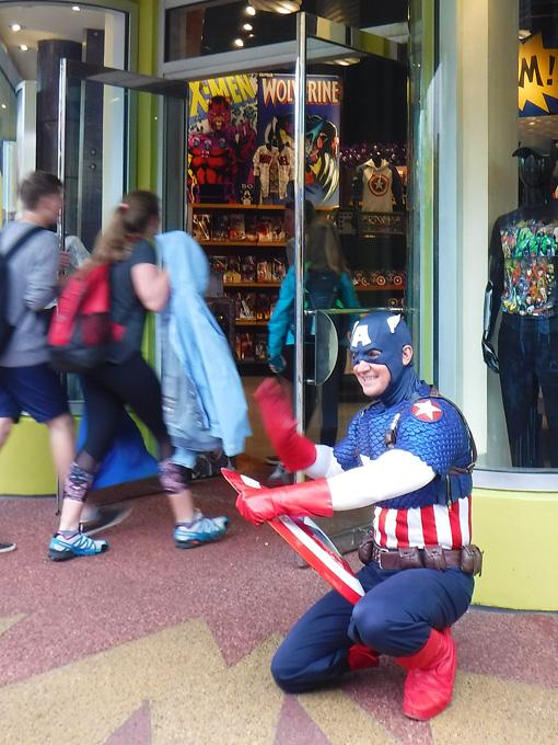 Capitão América para salvar o dia!