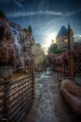 Castelos são comuns em Disney World.