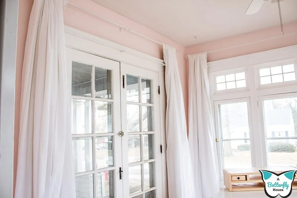 how to hang curtains on plaster walls
