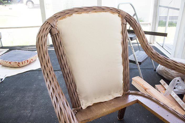 how to reupholster outdoor chairs the