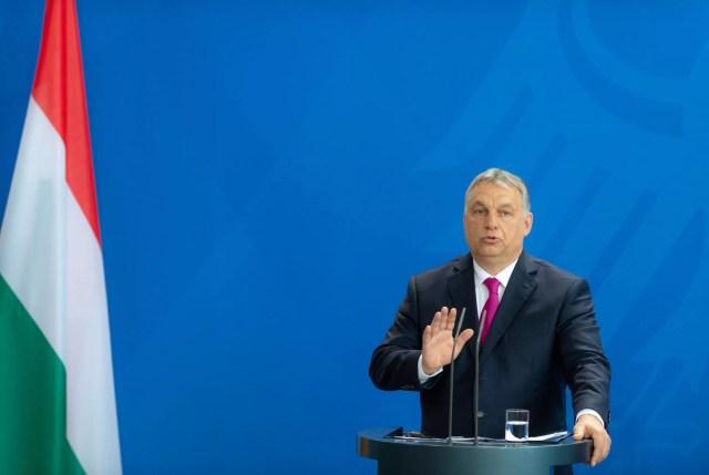 2018-07-05: Viktor Orbán, el primer ministro de Hungría, responde preguntas en la rueda de prensa en la cancillería federal en Berlín