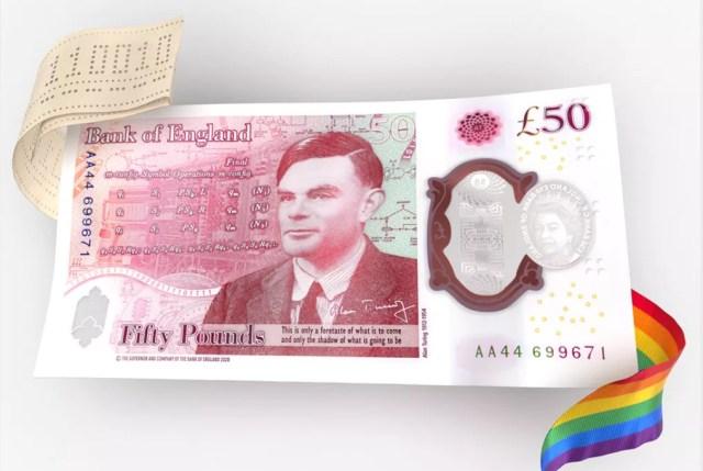 El nuevo billete de 50 libras de Alan Turing.