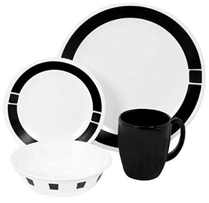 1. 16-Piece Dinnerware Set, Urban Black