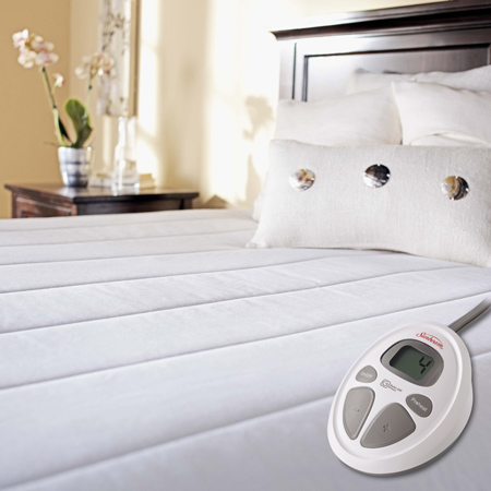 10. Sunbeam Quilted Heated Mattress Pad