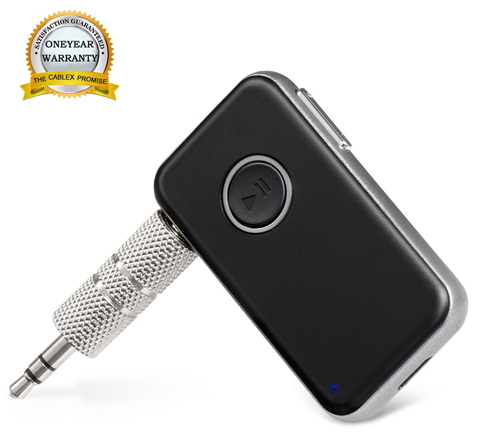 3. Cablex Bluetooth 4.1 Receiver / Car Kit Portable Wireless Audio Adapter