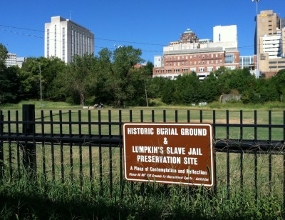 African Burial Ground sign