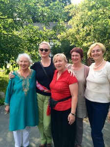 Gita Sophia and friends from Bosnia and England