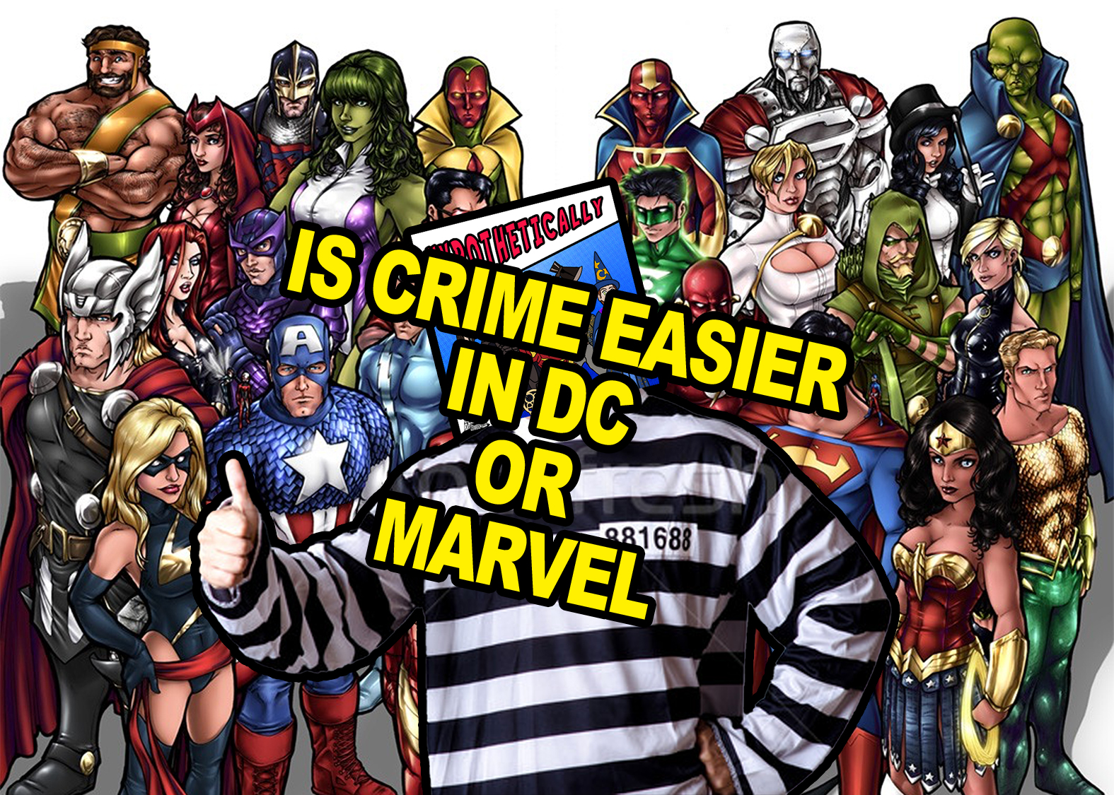 Is Crime Easier in The DC Universe or the Marvel Universe?