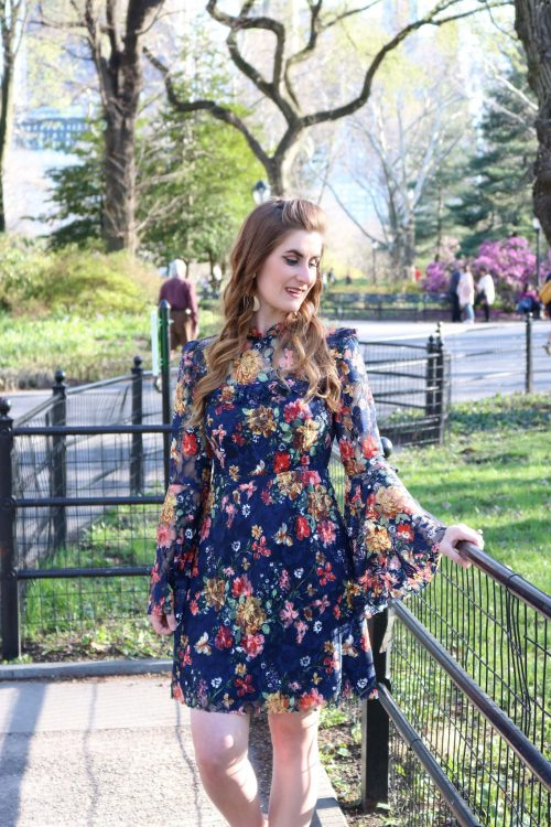 central park new york city   central park new york city spring SHEIN Calico Print Keyhole Back Bell Sleeve Dress   What to do in NYC   central park new york city things to do   new york city things to do in   new york city things to do in April   new york city must see   new york city must see places to visit