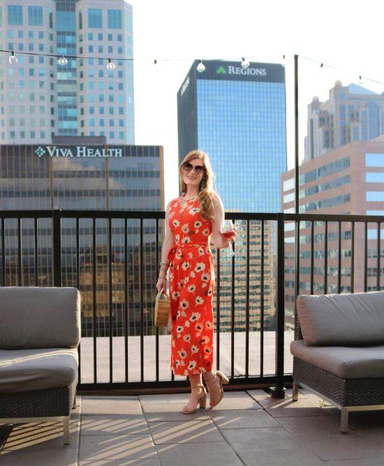 Flower Print Tie Waist Jumpsuit | Shein Flower Print Tie Waist Jumpsuit | summer jumpsuit | summer jumpsuit casual | summer outfits | summer outfits women | orange jumpsuit outfit