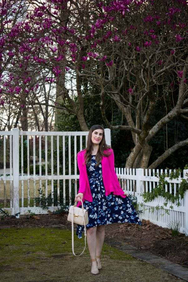 LONDON TIMES MARNA TIE WAIST | 5 Tips To Make Your Monday Better: Spring Work Wear | work wear | how to make your week better | work wardrobe | spring work outfit | pink and navy work outfit