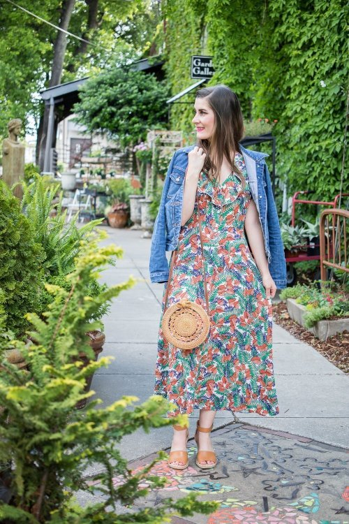 Button Through Flounce Tropical Print Dress | residency wife tips | Tips to cope with being married to a resident | how to survive medical school as a spouse/wife | how to survive residency as a spouse/wife