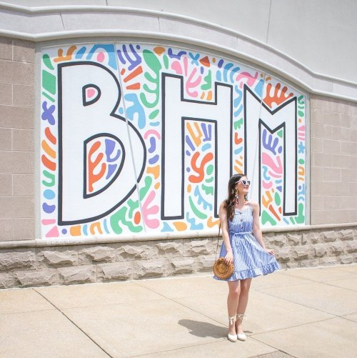 birmingham alabama | things to do in birmingham alabama | birmingham alabama restaurants | birmingham alabama downtown | birmingham alabama bucket list | Striped Button Front Ruffle Hem Belted Cami Dress | SheIn Striped Button Front Ruffle Hem Belted Cami Dress | seersucker and multi-color