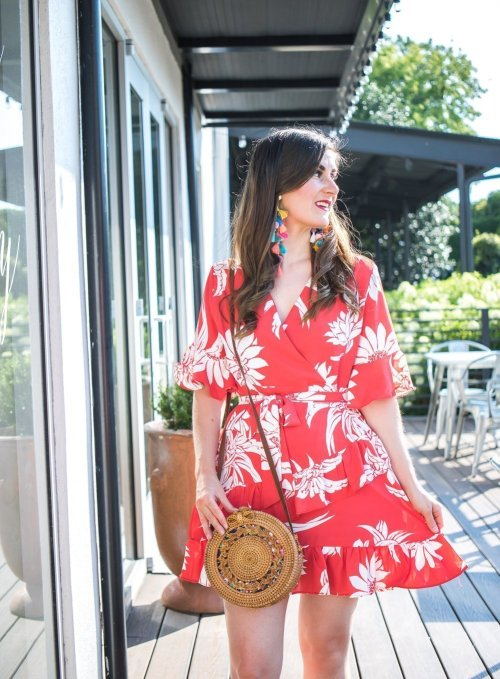 Chicwish Summer Red Floral Print Ruffle Dress | My Favorite Budget Friendly Wines | Wine guide | wine tasting | favorite wine drinks | favorite wines