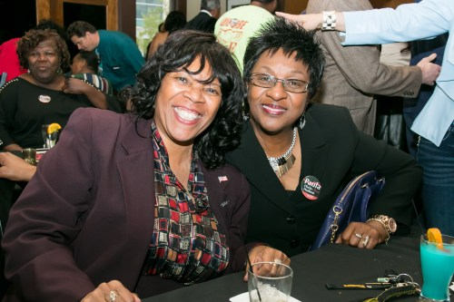 Mayor Paula Hicks-Hudson and Councilwoman Yvonne Harper
