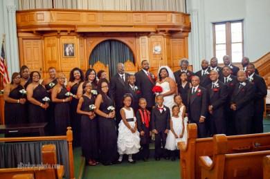 Ebenezer Baptist Church, Toledo, Ohio Wedding Party