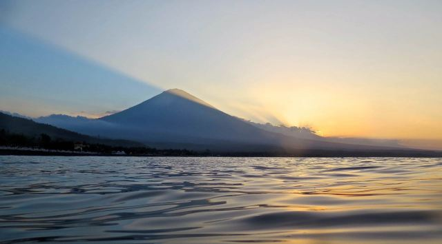 Sunset on Mount Agung