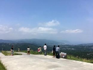 山頂は中々の眺望です。Photo:K.I.
