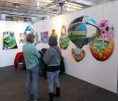 Kunstudstilling, udstilling, Art Nordic,Øksnehallen, ikke firkantet maleri, frithængende maleri