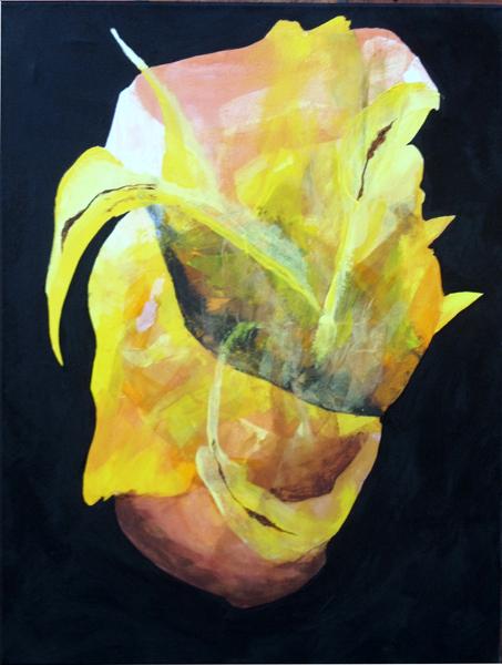 gul rose, gul blomst,surrealisme,A.C.Rosmon