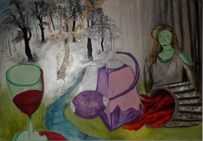 A.C.Rosmon, akrylmaleri, maleri , maleri til salg,figurativ kunst, surrealisme, eventyrsurrealisme,