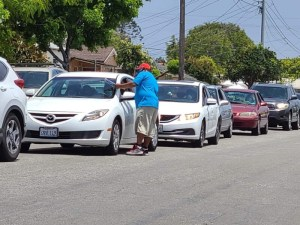 Cars Lining Up for Food Program at National City FMC