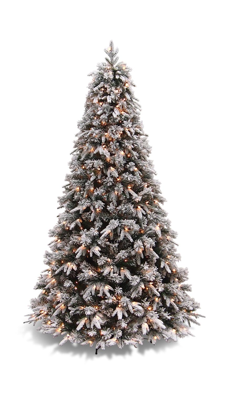 Flocked Pine 7 5 Artificial Christmas Tree Hom Furniture