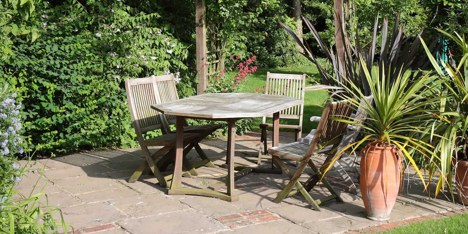 garden patio ideas london shapes and