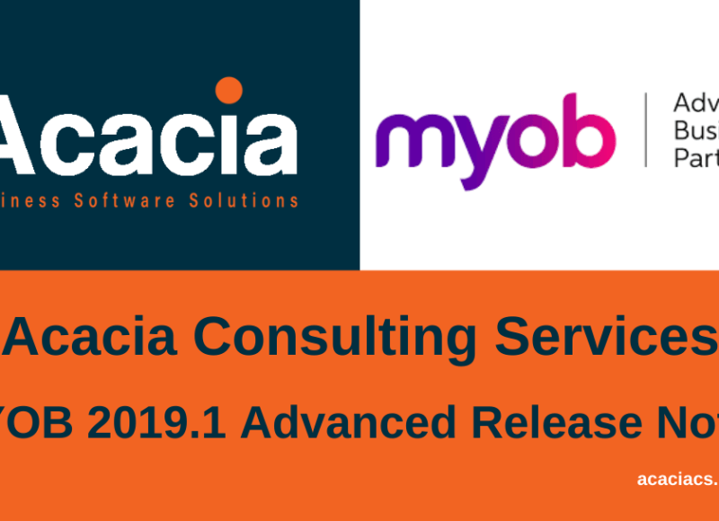 MYOB 2019.1 Advanced Release Notes