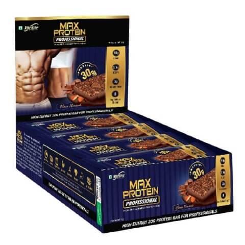 RiteBite Max Protein Professional MRP Bar - Choco Almond (Pack of 12)