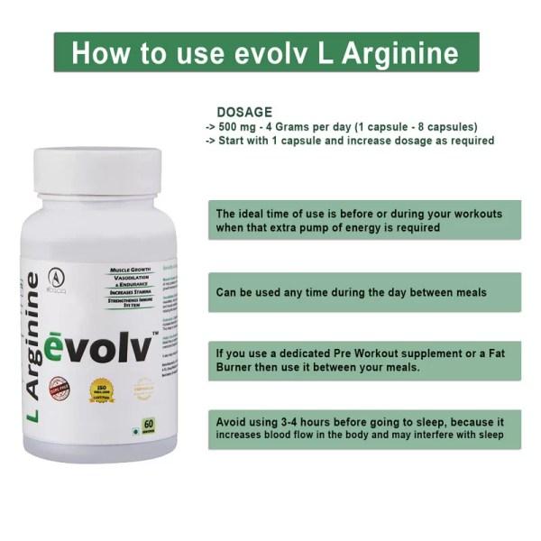 Acacia evolv L Arginine 60 capsules-1154