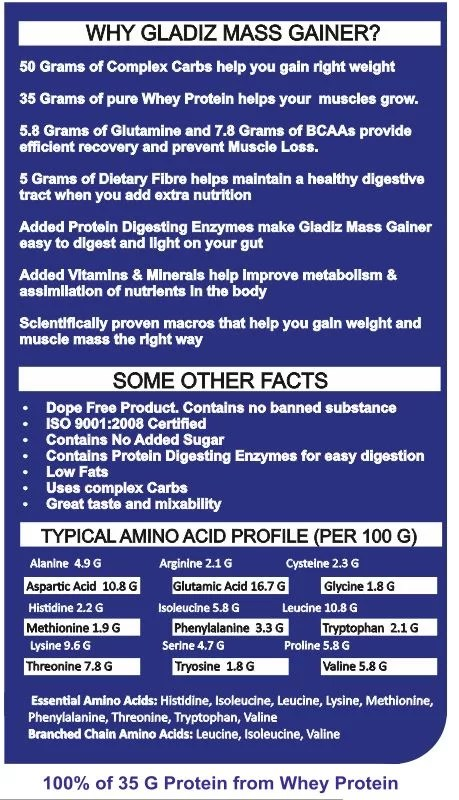 Acacia Gladiz™ High Protein Mass Gainer-1166
