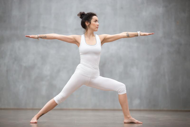 Warrior Virabhadrasana Guerrero II Asana Yoga