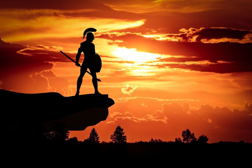 spartan, army, sun