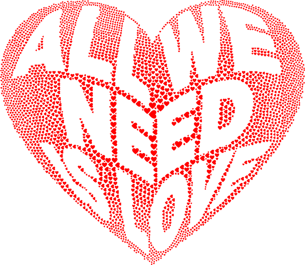 hearts, love, typography