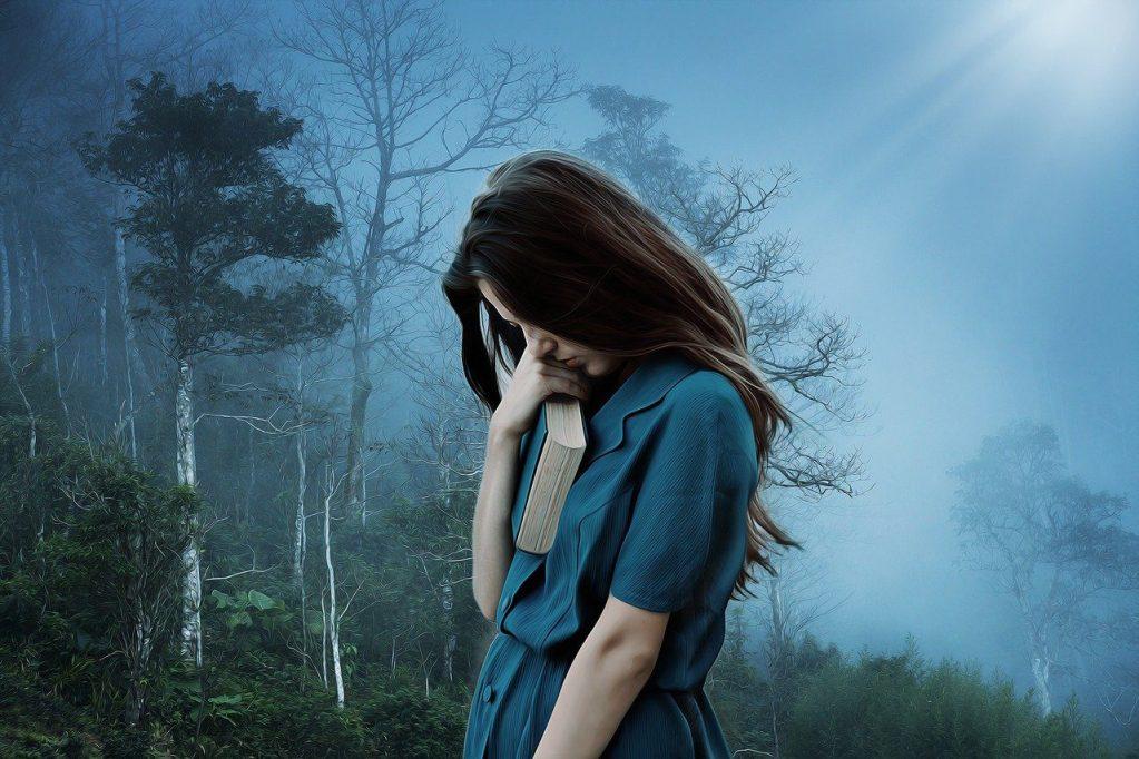 girl, sadness, loneliness